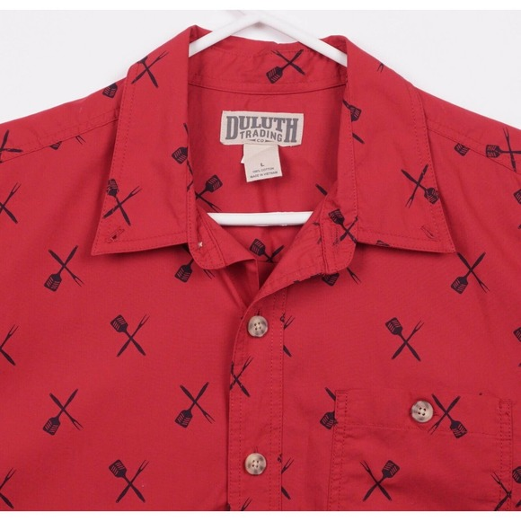 Duluth Trading Men's Large BBQ Grill Master Shirt
